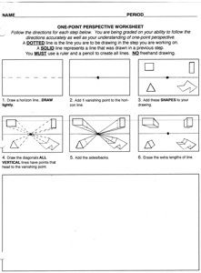 One point perspective drawing tutorial pdf