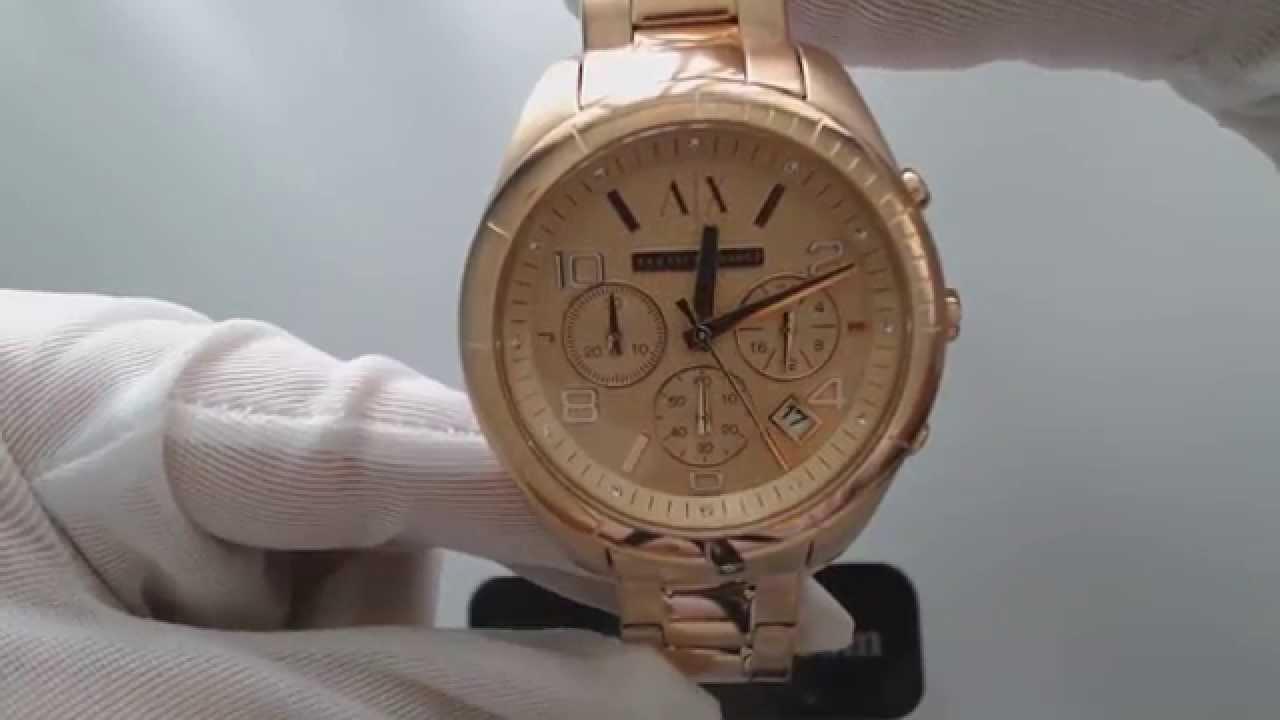 Armani exchange chronograph watch manual