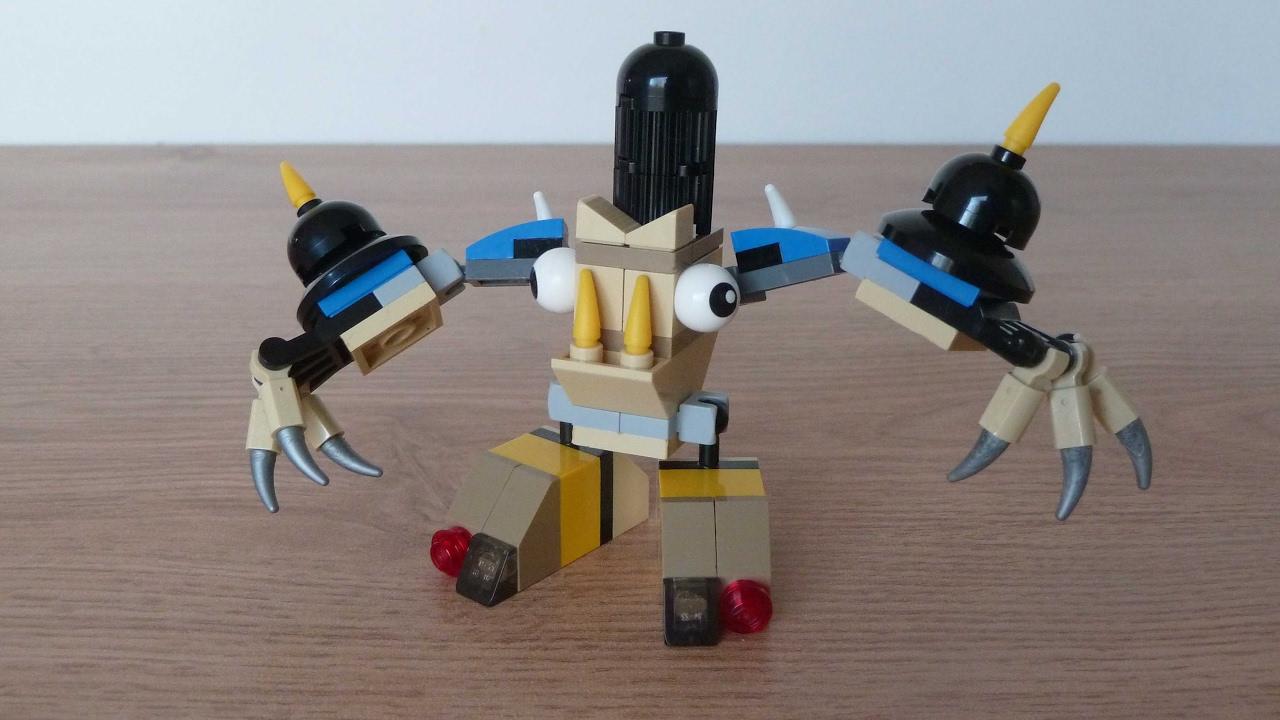 lego mixels myke instructions