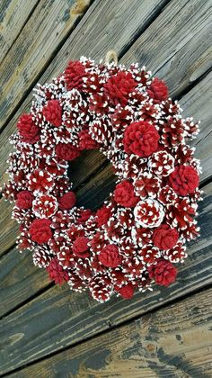 pine cone christmas wreath instructions