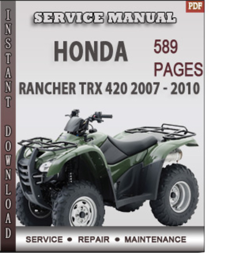 Honda trx 420 service manual pdf free