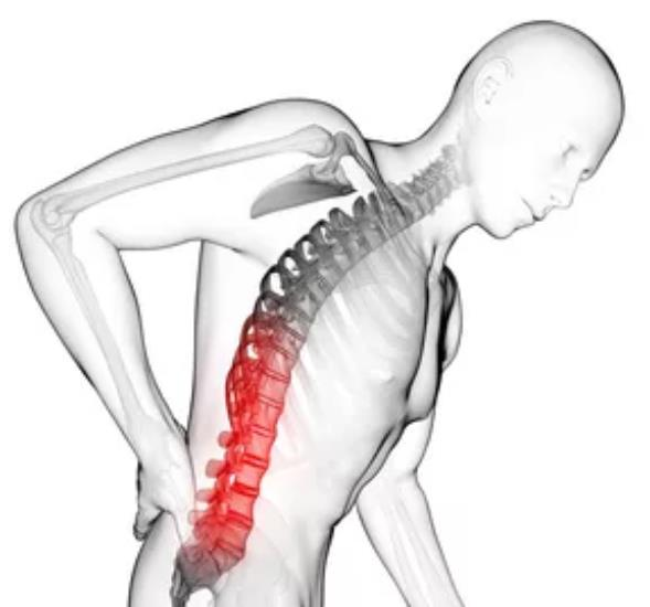 back injuries list of in manual handling