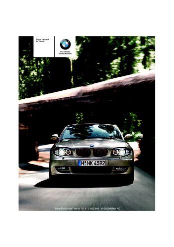 Bmw x1 2010 owners manual pdf