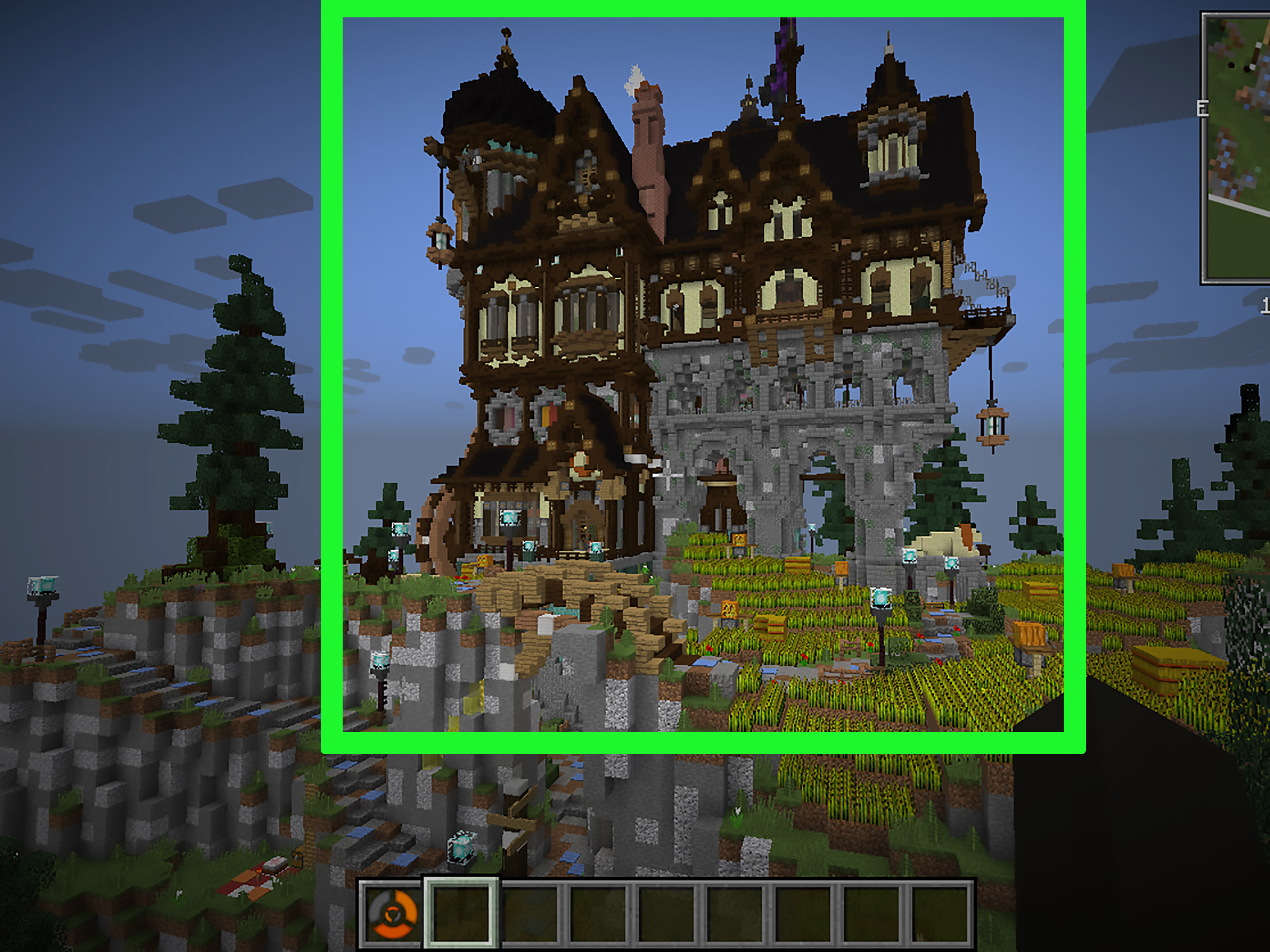 Minecraft pe how to build a medieval castle