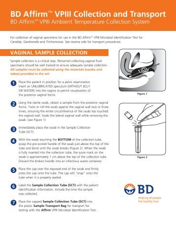 bd affirm collection instructions