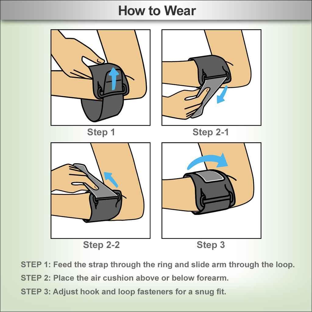 tennis elbow brace instructions