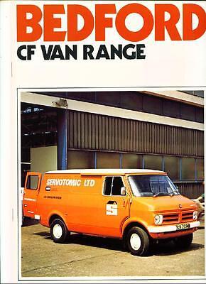 1976 bedford cf van 4 sp manual