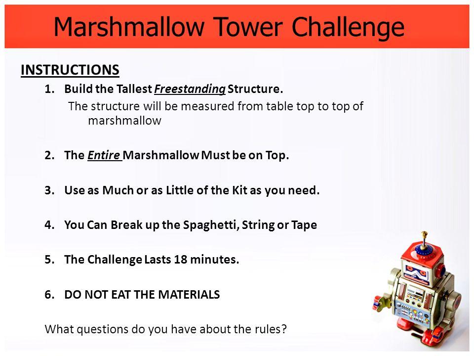 spaghetti marshmallow challenge instructions