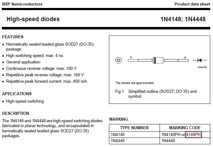 1n4148 zener diode datasheet pdf
