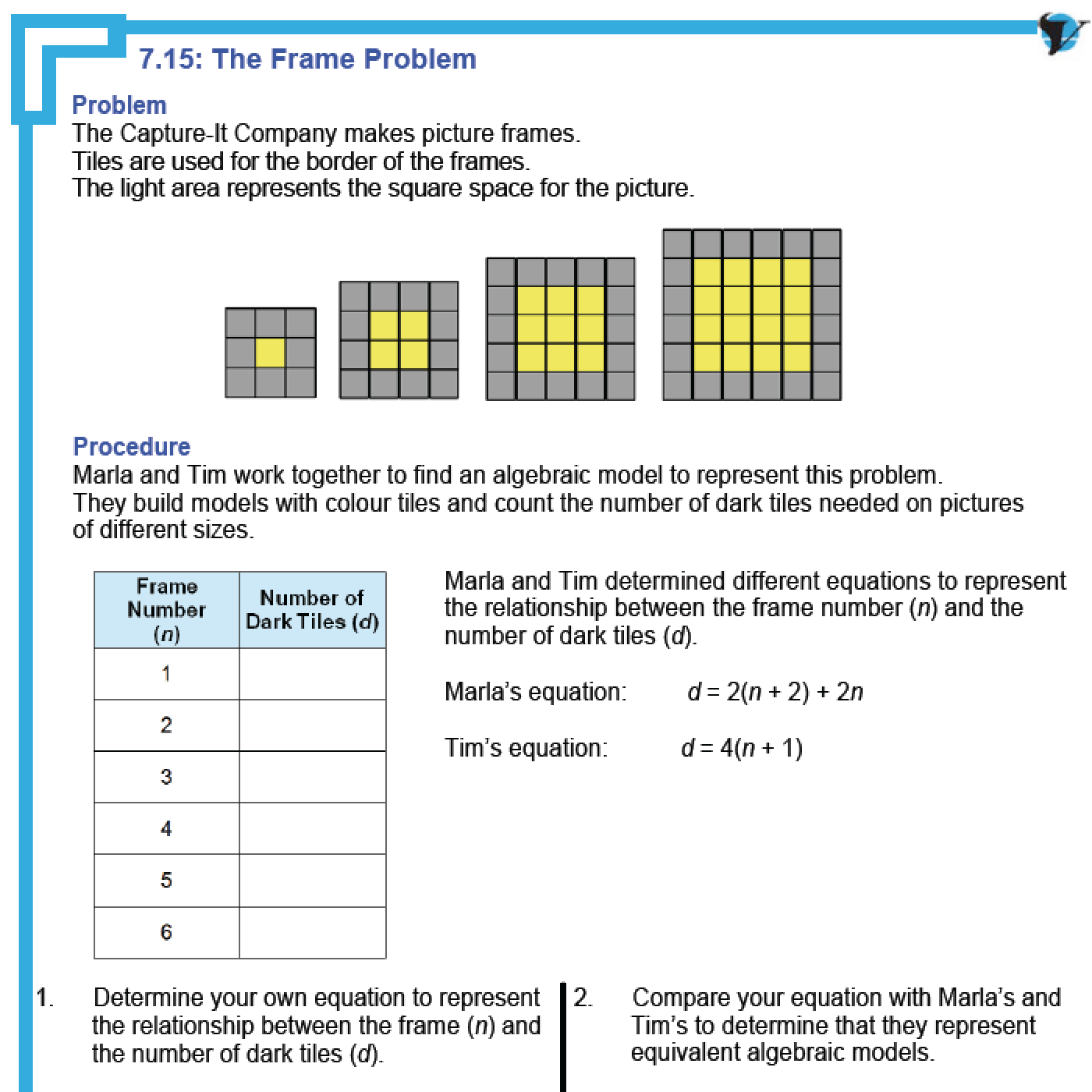 Patterning and algebra grade 6 worksheets pdf