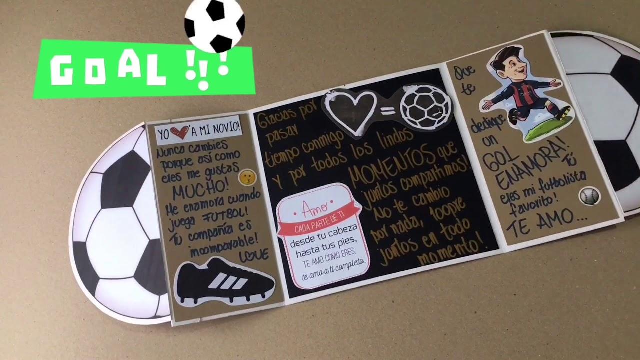 Manualidades para regalar a un novio futbolista