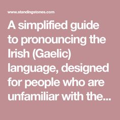 Guide to pronouncing scottish words