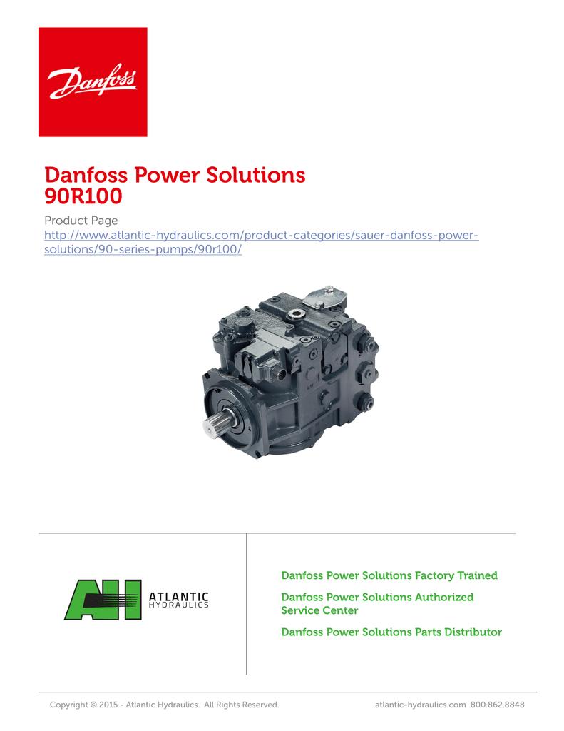 sauer danfoss 130 series pump service manual