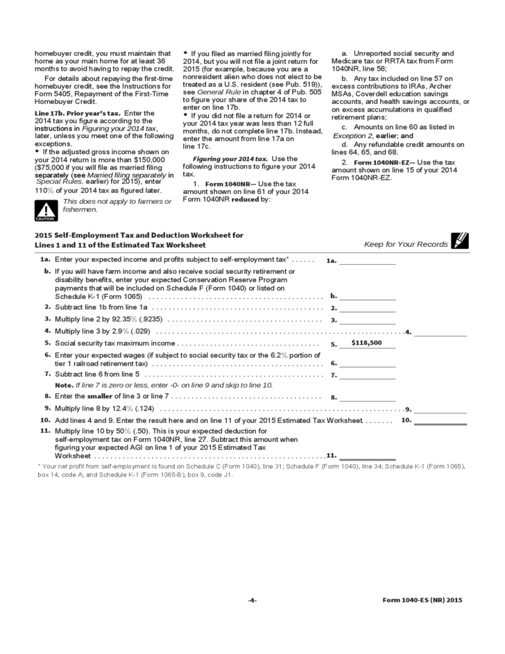 Supplemental form w 4 instructions for nonresident aliens