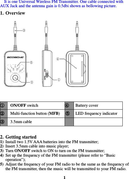tune free audio fm transmitter manual