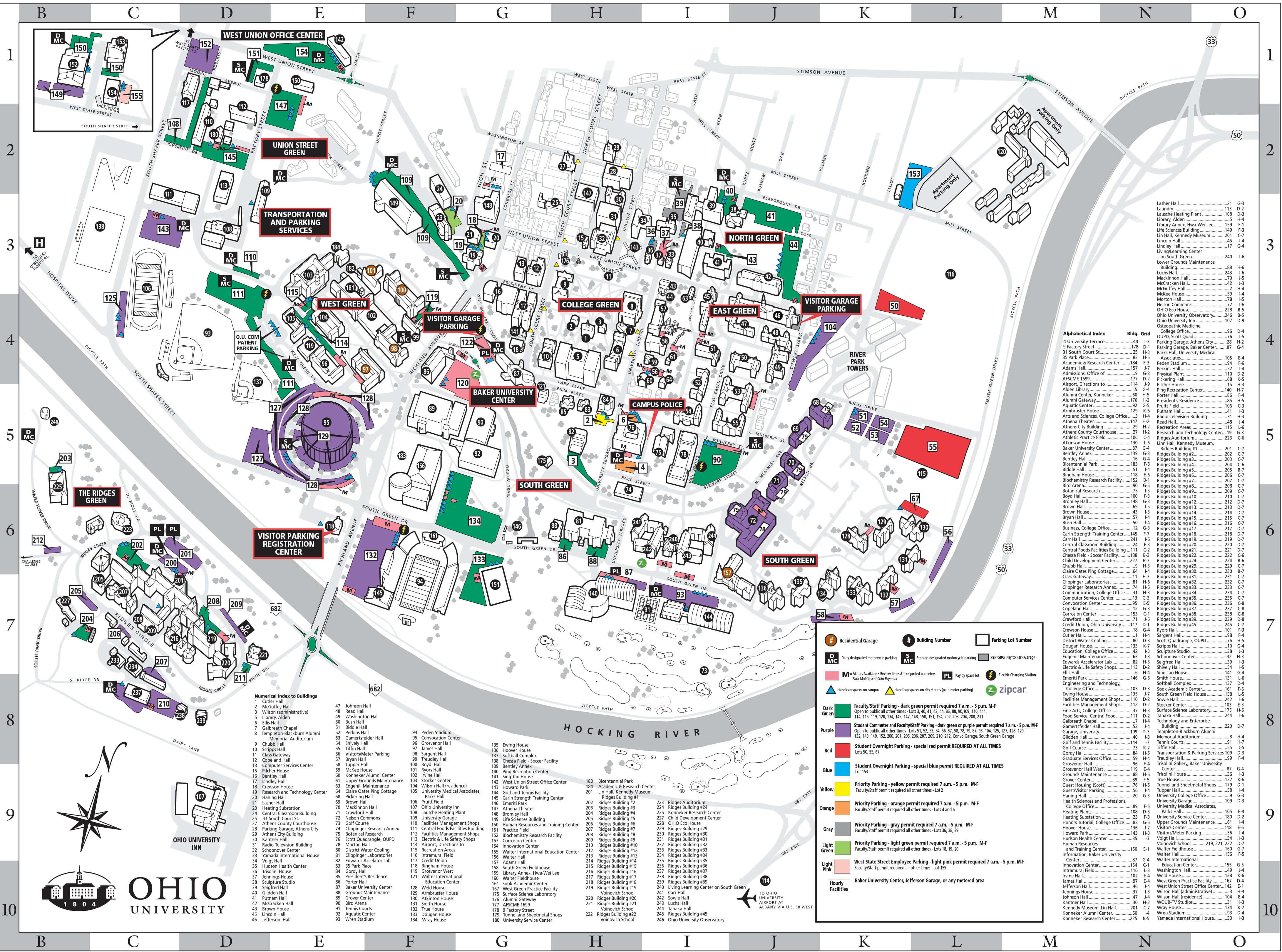 Oklahoma state university campus map pdf
