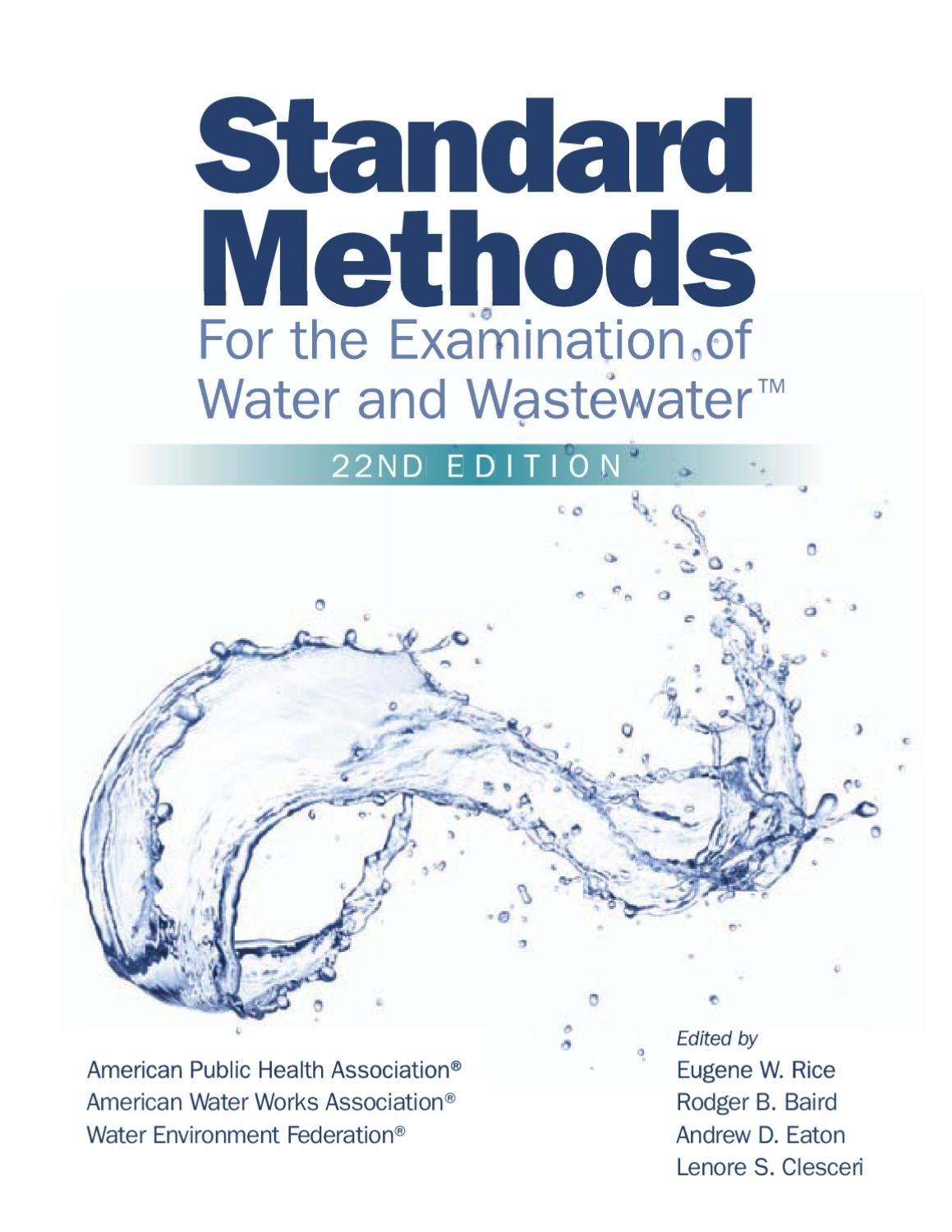 Handbook for sampling and sample preservation of water and wastewater