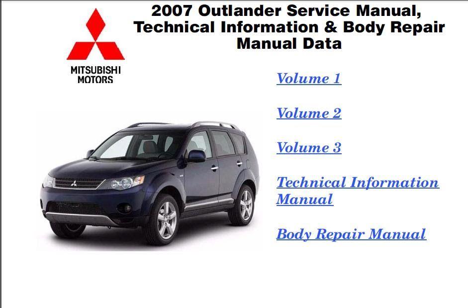 2011 mitsubishi outlander service manual