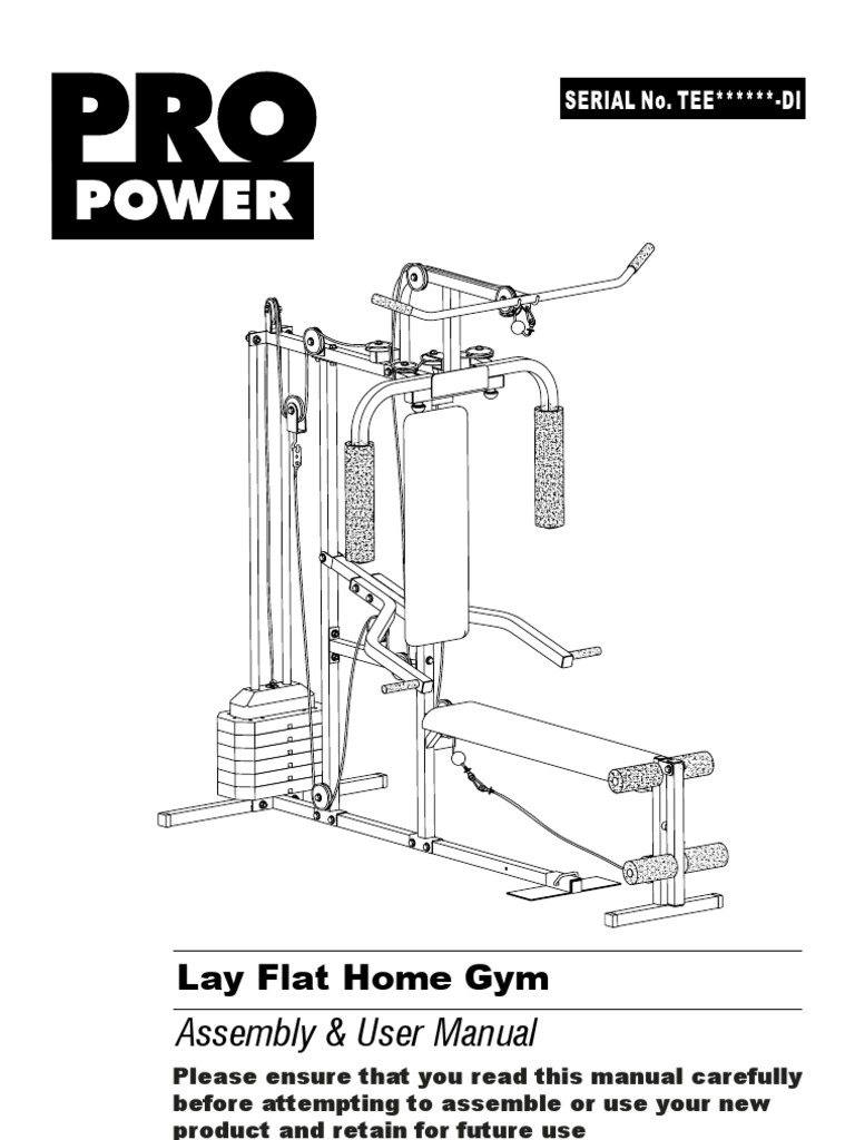 pro power multi gym assembly instructions manual pdf