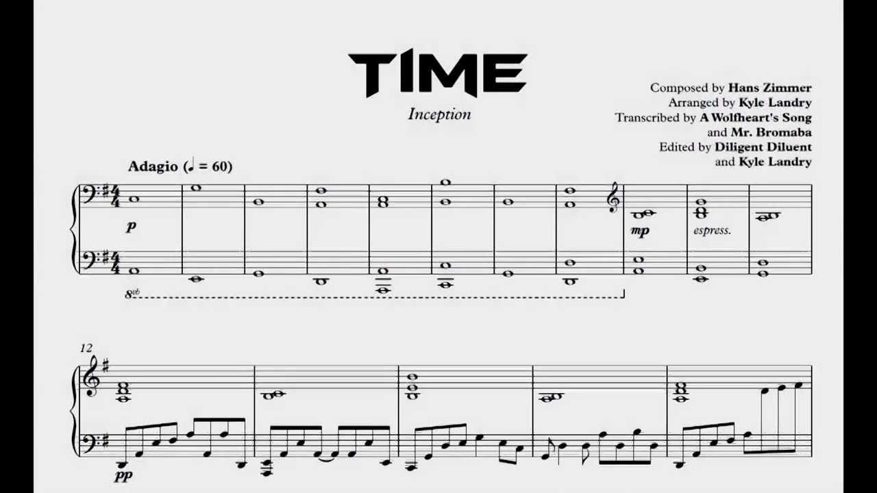 Maestro hans zimmer sheet music pdf