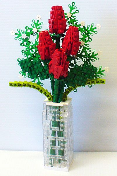 lego flower vase instructions