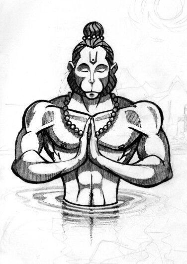 Learn how to draw hanuman
