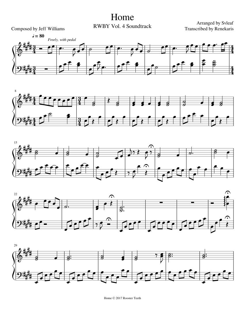 Home the wiz sheet music pdf free