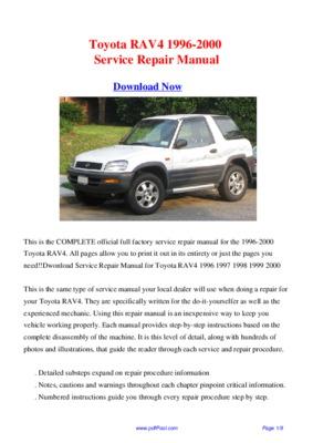 toyota repair manual pdf 2000