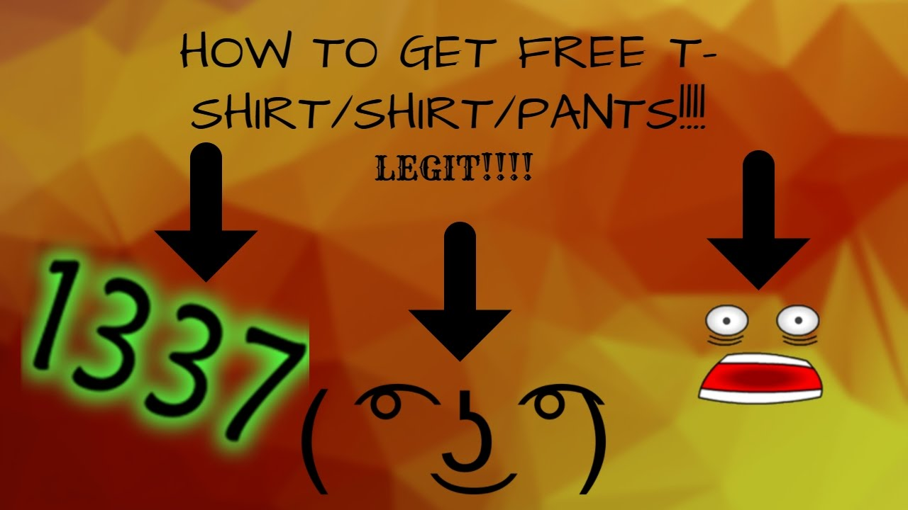 Roblox how to get free shirts