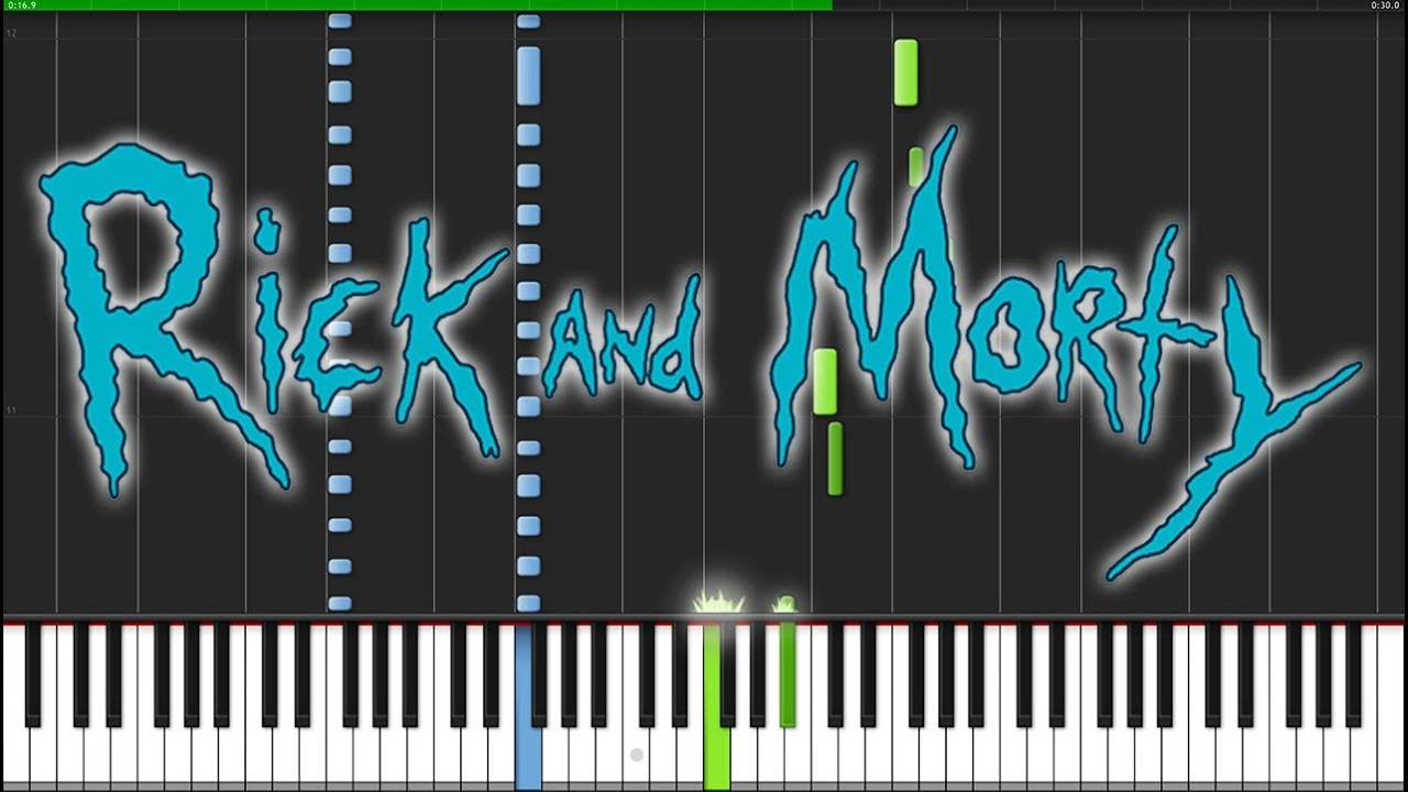 Rick and morty piano sheet pdf