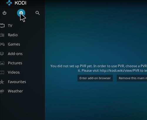 Kodi how to show add ons on home screen