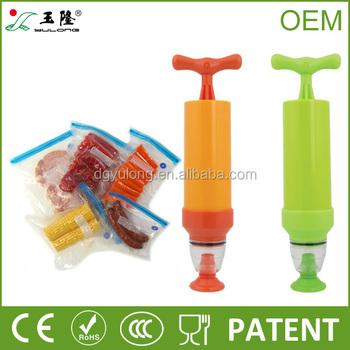 manual vacuum pump for food storage