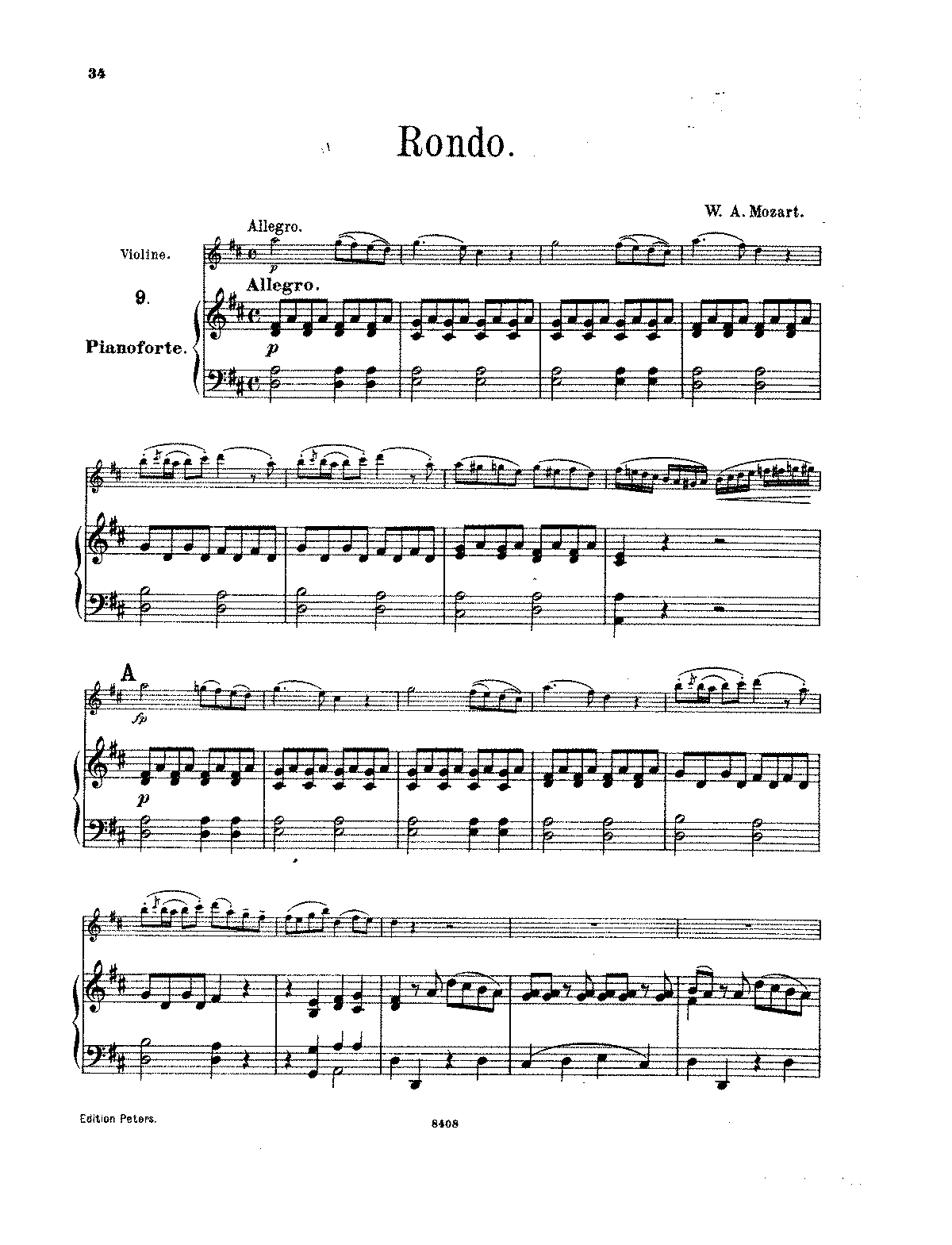 Mozart rondo in d major pdf