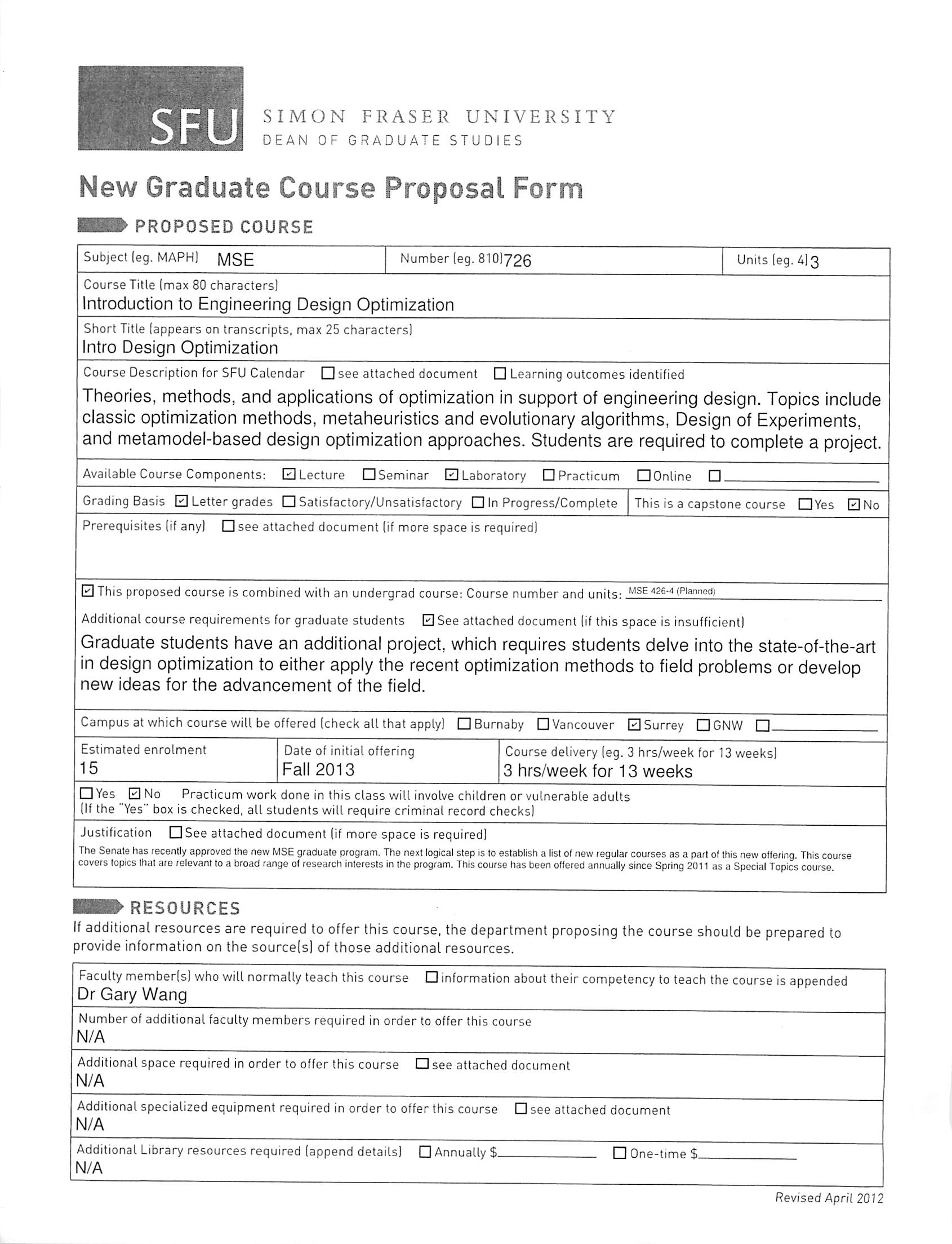 Simon fraser university graduate application