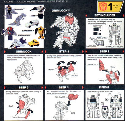 grimlock transformer toy instructions