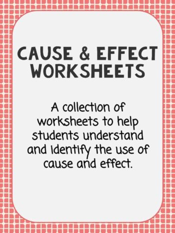 Cause and effect worksheets pdf 3rd grade