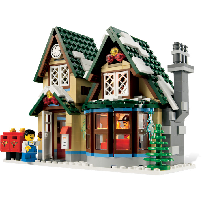 lego winter post office instructions