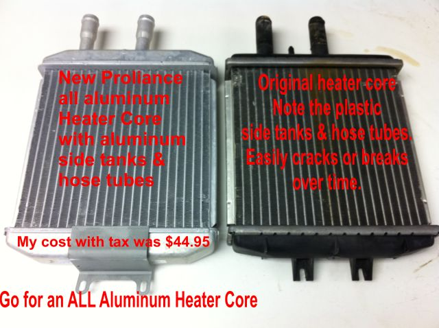 Heater core replacement instructions