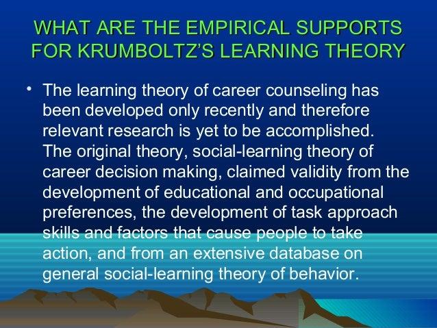 Krumboltz theory of career development pdf