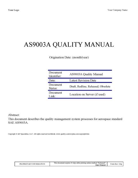 Mil i 45208 quality manual