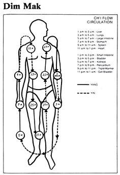 dim mak pressure points charts