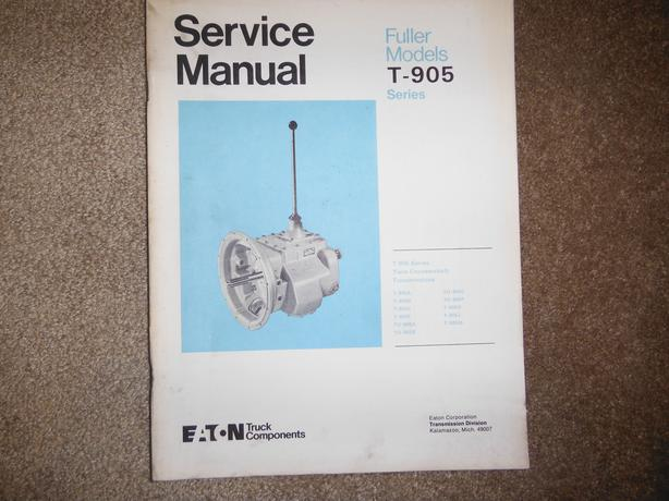 eaton fuller synchro transmission service manual