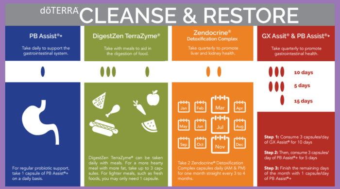 doterra cleanse and restore kit instructions