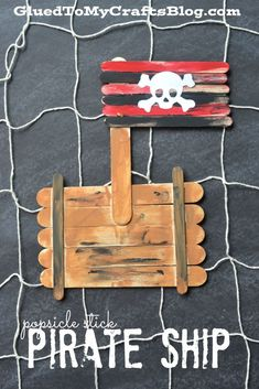 Popsicle stick pirate ship instructions