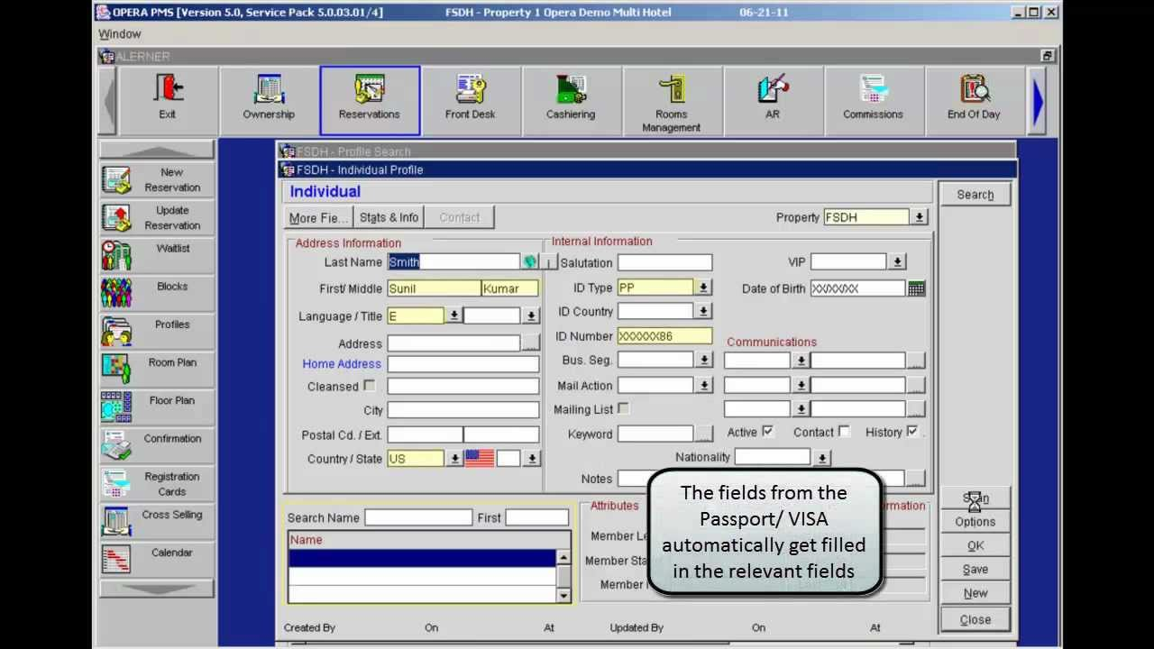 Opera pms reference manual version 5
