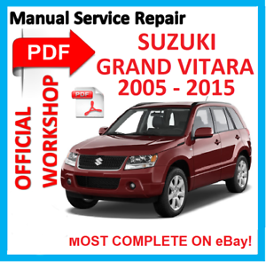 Suzuki grand vitara service manual pdf