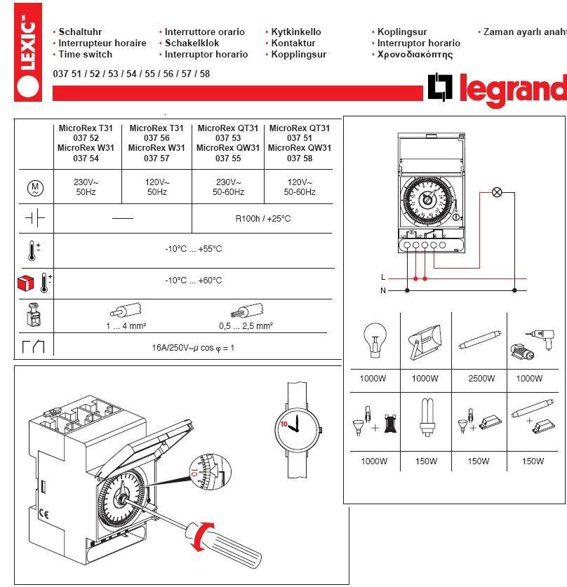 legrand 03705 timer instructions