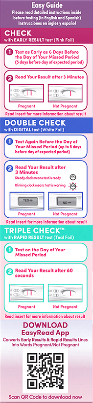 i can pregnancy test instructions