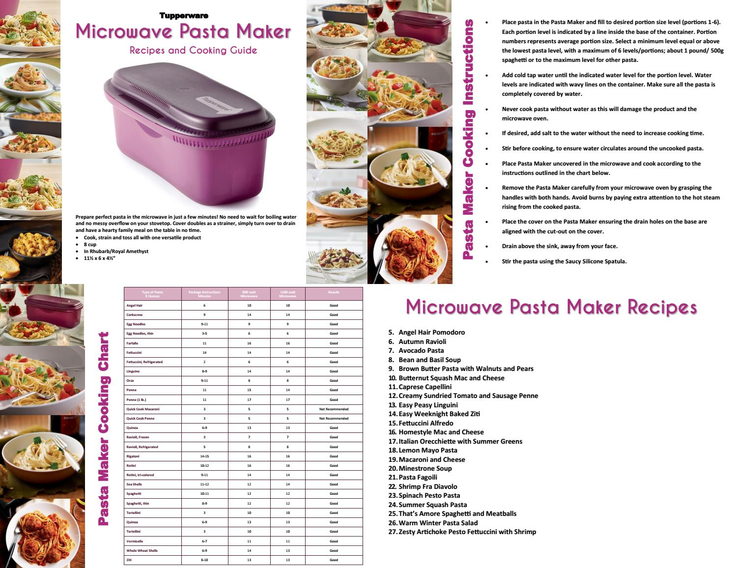 microwave pasta cooker instructions