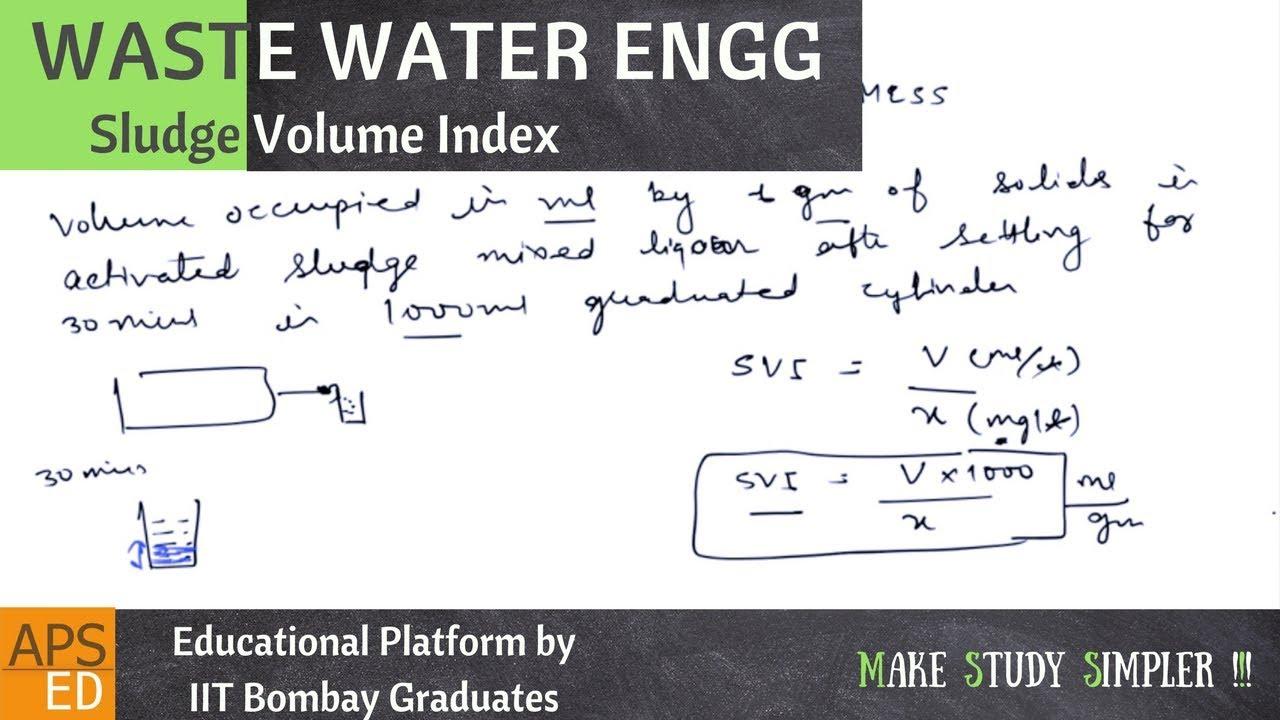 Sludge volume index experiment pdf